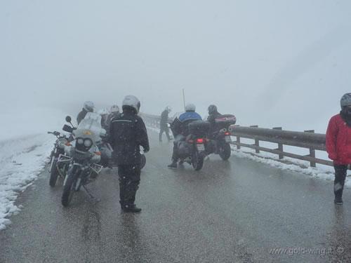 La nevicata in prossimità del Gran sasso