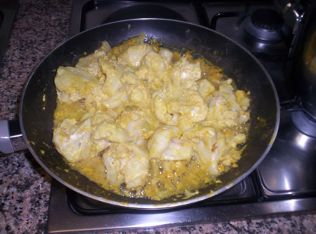 Il cavolfiore al curry